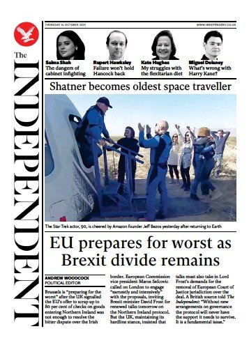 The Independent - 'EU prepares for worst as Brexit divide remains'