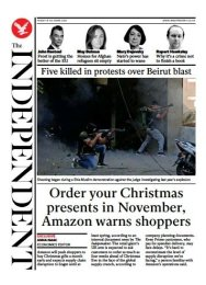 The Independent - 'Order Xmas presents in November, Amazon warns'