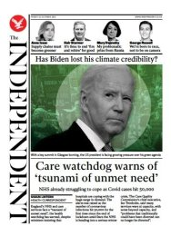 The Independent - 'Care watchdog warns of tsunami of unmet needs'