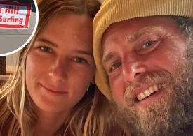 Jonah Hill and girlfriend Sarah Brady react to body shaming sign that read actor 'ruined surfing'