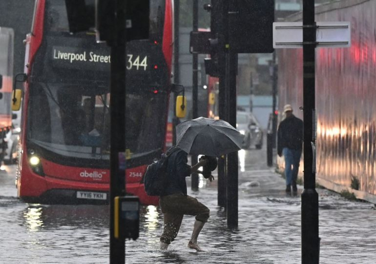 Torrential downpours leave parts of London flooded overnight
