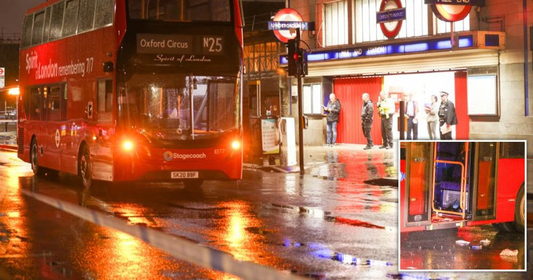 Three people injured after stabbing on night bus as 'driver pulls panic button'