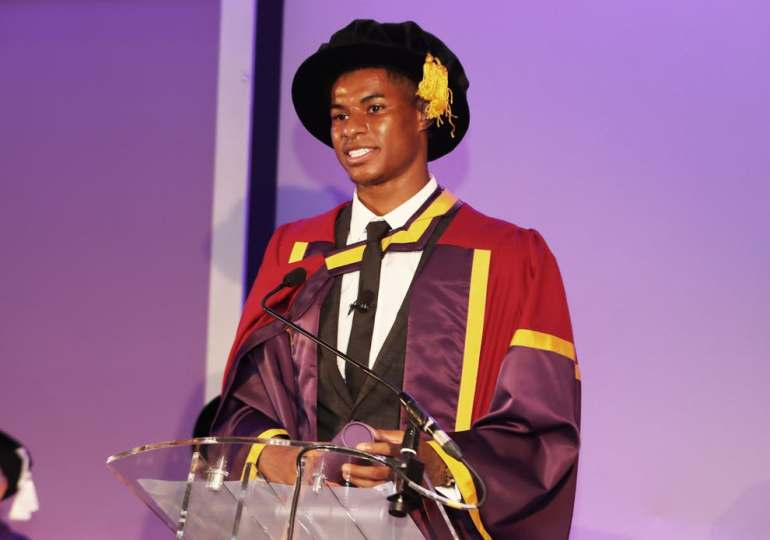 Marcus Rashford says collecting honorary degree 'bittersweet' after benefits cut