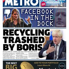 The Metro – 'Recycling trashed by Boris'