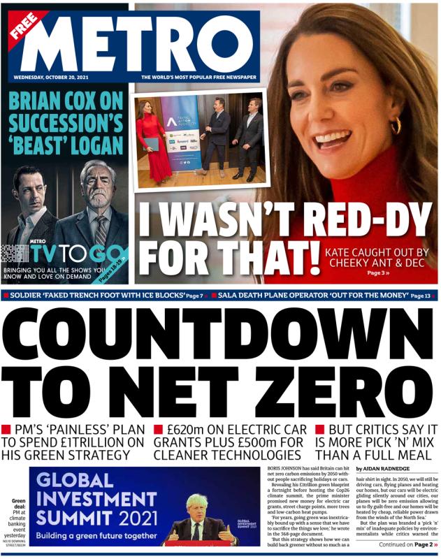 The Metro - 'Countdown to net zero'