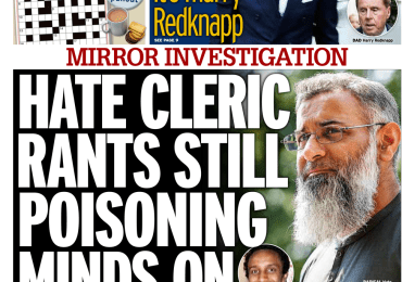 Daily Mirror - 'Hate-filled rants poising minds'
