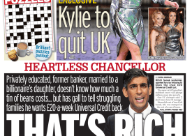 Daily Mirror - Heartless Chancellor: That's rich'