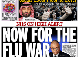 Daily Mirror - 'Now for the flu war'