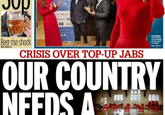 Daily Mirror - 'Our country needs a booster'