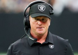 Raiders coach Jon Gruden RESIGNS over trove of homophobic and misogynistic emails including calling Biden a 'p***y'