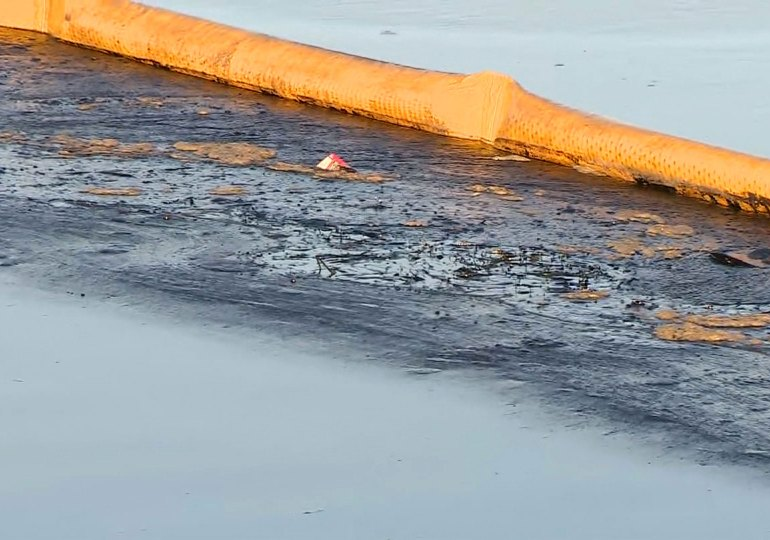 Officials seek cause of oil spill off US's California coast
