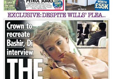 The Sun - 'The Crown to recreate Princess Diana interview'