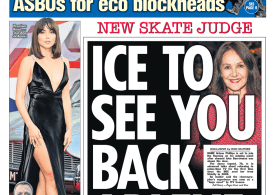 The Sun - 'Ice to see you back Arlene'