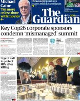 The Guardian - 'Key Cop26 corporate sponsors condemn mismanaged summit'