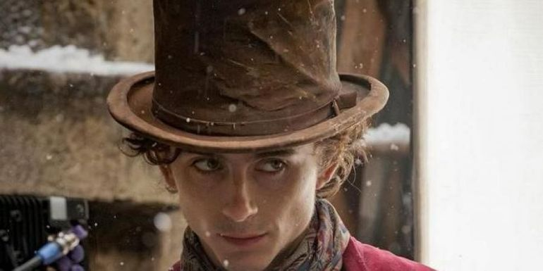 Timothée Chalamet reveals first look of himself as Willy Wonka